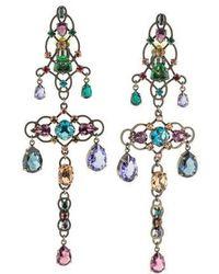 Lanvin - Ginger Earrings Brass - Lyst