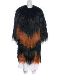 Givenchy - Fur Long Coat - Lyst