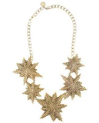 Tory Burch - Textured Star Collar Necklace Gold - Lyst