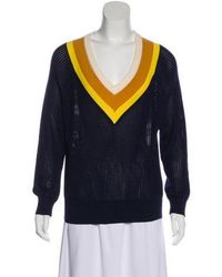 Band of Outsiders - Lightweight Knit Sweater Navy - Lyst
