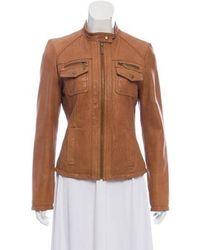 MICHAEL Michael Kors - Michael Kors Casual Leather Jacket - Lyst