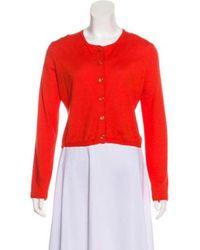 Dior - Cashmere Crop Cardigan Orange - Lyst