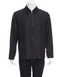 Marc Jacobs - Wool Zip-front Jacket Navy - Lyst