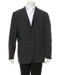 Jil Sander - Windowpane Virgin Wool Sport Coat Wool - Lyst