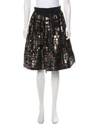 Naeem Khan - Embroidered Flared Knee-length Skirt - Lyst