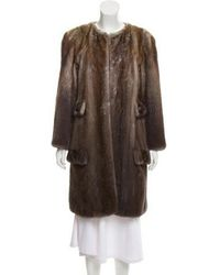 Peter Som - Knee-length Mink Fur Coat Brown - Lyst