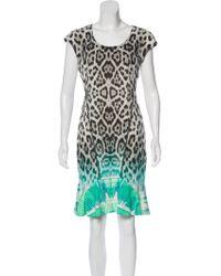 Roberto Cavalli - Printed Mini Dress Grey - Lyst