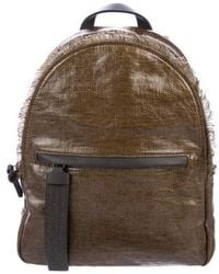 Brunello Cucinelli - Coated Canvas Backpack W/ Tags Olive - Lyst