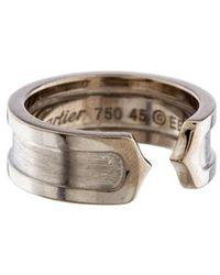 Cartier - C De Logo Ring White - Lyst