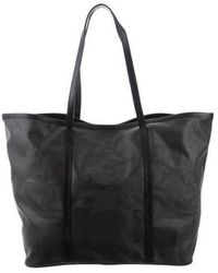 Lucien Pellat Finet - Leather-trimmed Camo Tote Grey - Lyst