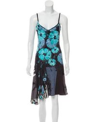 Just Cavalli - Patterned Sleeveless Dress Pattern Prints - Lyst
