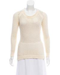 Torn By Ronny Kobo - Long Sleeve Knit Sweater Neutrals - Lyst