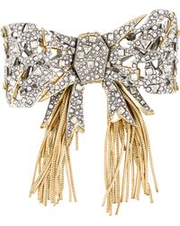 Alexis Bittar - Crystal Mosaic Lace Bow Brooch Gold - Lyst