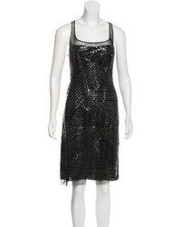 Ralph Rucci - Vinyl-trimmed Midi Dress - Lyst