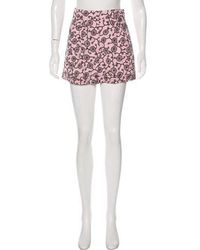 Nina Ricci - Printed High-rise Shorts - Lyst