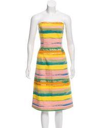 Moschino Jeans - Strapless Mini Dress - Lyst