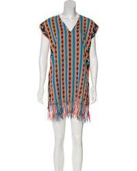 Sensi Studio - Patterned Mini Dress W/ Tags Aqua - Lyst