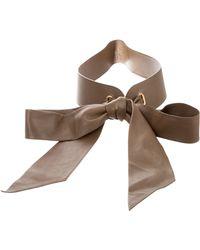 Loro Piana - Leather Wrap Belt Olive - Lyst
