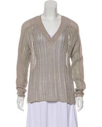 Helmut Lang - Knit Long Sleeve Sweater Beige - Lyst