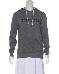 Rodarte - Hooded Graphic Sweatshirt Grey - Lyst