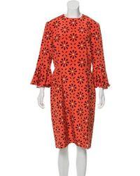 Holly Fulton - Silk Printed Midi Dress W/ Tags Multicolor - Lyst