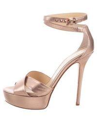 Jerome C. Rousseau - Platform Sandals Gold - Lyst