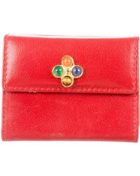 Judith Leiber - Leather Mini Cardholder Red - Lyst