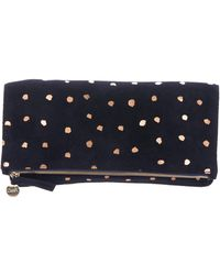 Clare V. - Suede Foldover Clutch Gold - Lyst