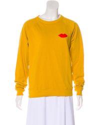 Clare V. - Knit Graphic Print Sweatshirt - Lyst