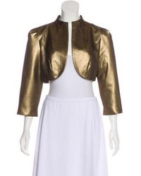THEIA - Cropped Jacket - Lyst