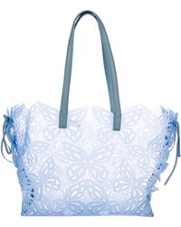 Sophia Webster - Liara Laser Cut Tote Blue - Lyst