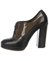 Marc Jacobs - Patent Leather Lace-up Booties Olive - Lyst