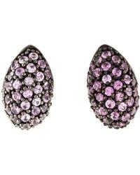M.c.l  Matthew Campbell Laurenza - Enamel & Sapphire Earrings Silver - Lyst