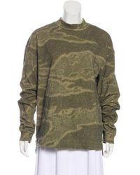 Yeezy - Oversize Long Sleeve Sweatershirt Olive - Lyst