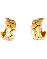 Cartier - 18k Double Row Heart Earclip Earrings Yellow - Lyst