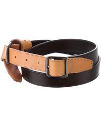Dries Van Noten - Knot-accented Leather Belt - Lyst