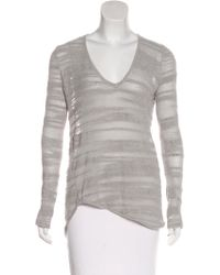 Helmut - Textured Knit Long Sleeve Top Grey - Lyst