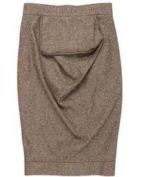 Vivienne Westwood Red Label - Draped Pencil Skirt Brown - Lyst