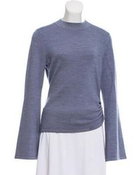 Mother Of Pearl - Ruched Wool-blend Sweater - Lyst