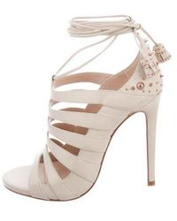 Ruthie Davis - Rose Lace-up Sandals W/ Tags Nude - Lyst