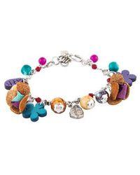 Etro - Jasper & Resin Bead Floral Charm Bracelet Silver - Lyst