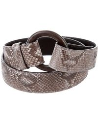 Loro Piana - Snakeskin Waist Belt Grey - Lyst