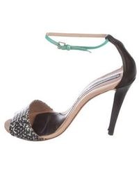 Narciso Rodriguez - Python Ankle Strap Sandals - Lyst