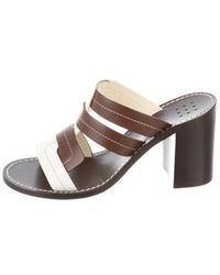 7ed9d8420f86d Lyst - Trademark Patterned Leather Sandals in Black