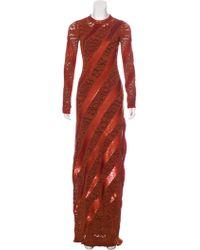 Louis Vuitton - Sequin Knit Dress Orange - Lyst