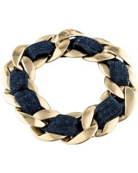 Chanel - Woven Curb Chain Bracelet Gold - Lyst