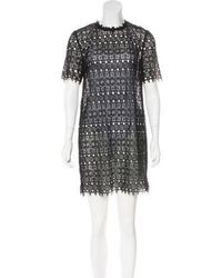 R/R Studio - Sheer Embroidered Dress - Lyst