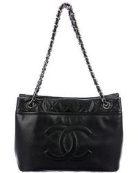 Chanel - Caviar Timeless Soft Shopper Tote Black - Lyst