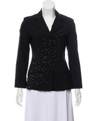 Moschino Jeans - Embellished Notched-lapel Blazer - Lyst