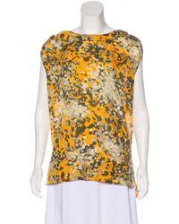 f1aab51d85a0c Lyst - Stella Mccartney Printed Silk Top Orange in Gray